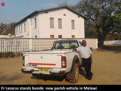 MALAWI – New vehicle enables priest to carry out pastoral work –ACN Malta