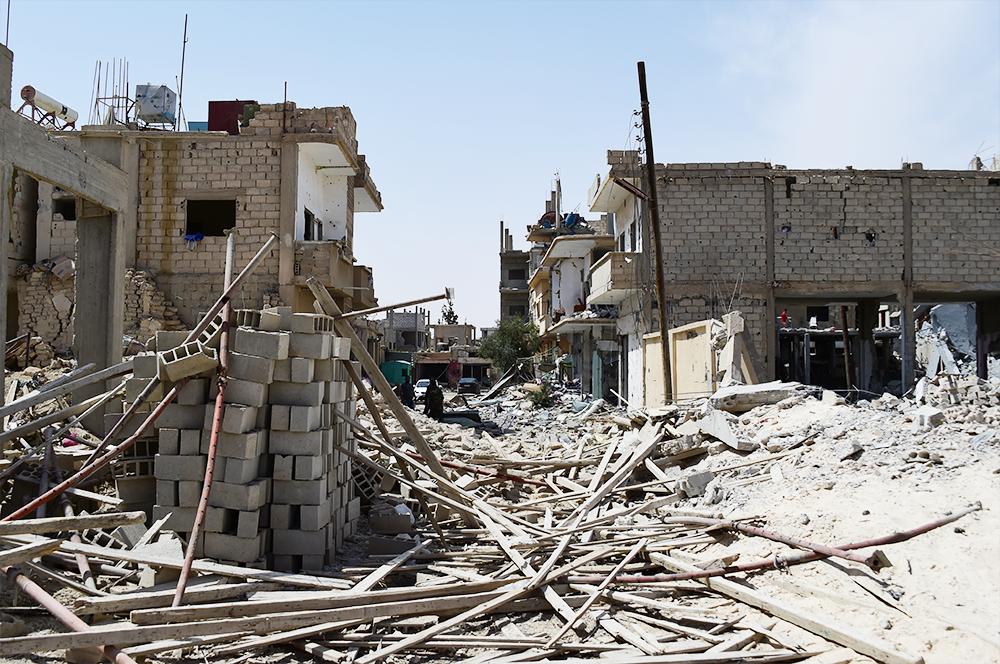 Daesh's destruction of Al-Qaryatayn, Syria.