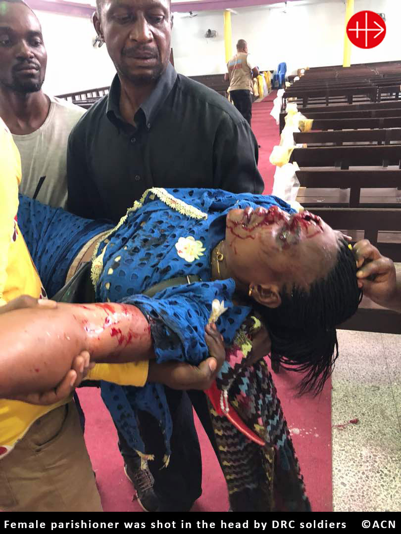 CONGO:  Churchgoers in Limete injured by police rubber bullets – Murcadha O Flaherty and John Pontifex